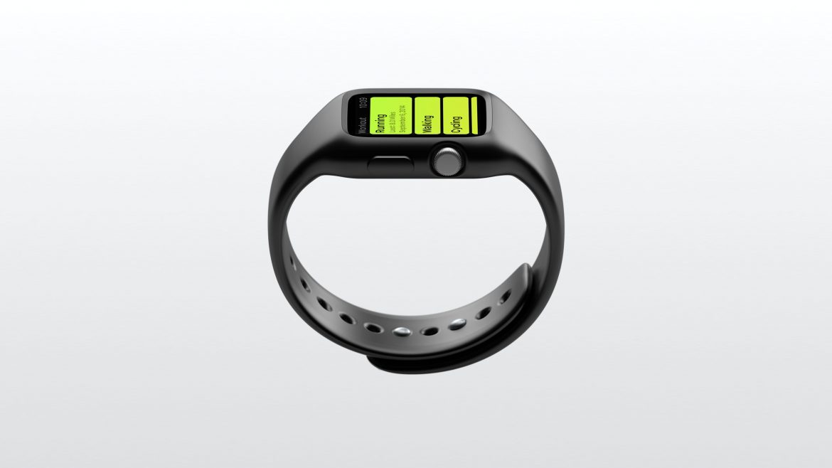 A real Apple Watch Sports Band